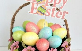 eggstra special mossy easter basket diymyspring, crafts, easter decorations, seasonal holiday decor