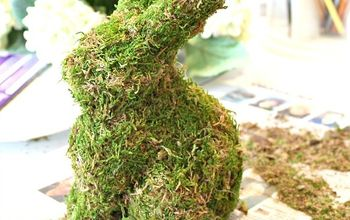 THINK SPRING With DIY Ideas, Including a Moss Covered Bunny