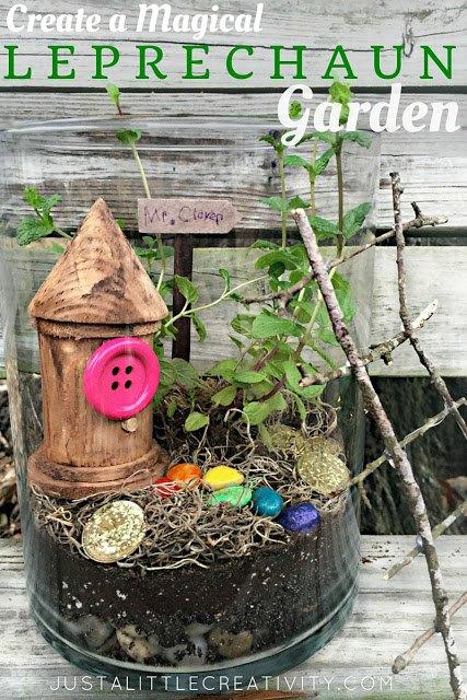 create a magical leprechaun garden terrarium showyourgreen, gardening, terrarium