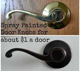 Charmant Diy Spray Painted Doorknobs Ugly Brass To Beautiful Oil Rubbed Bronze, Doors,  Painting