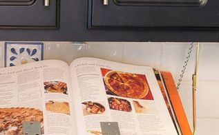 diy pull down under cabinet cookbook ipad shelf, diy, how to, kitchen design, shelving ideas