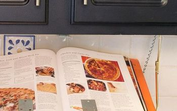 DIY Pull Down Under Cabinet Cookbook / IPad Shelf