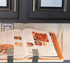Diy Pull Down Under Cabinet Cookbook Ipad Shelf, Diy, How To, Kitchen Design