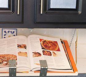 Diy Pull Down Under Cabinet Cookbook Ipad Shelf Hometalk
