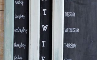 reuse an old cabinet door to make a weekly menu chalkboard, chalkboard paint, kitchen cabinets, organizing, repurposing upcycling