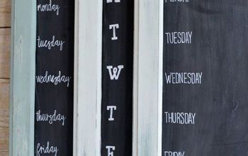 Reuse an Old Cabinet Door to Make a Weekly Menu Chalkboard