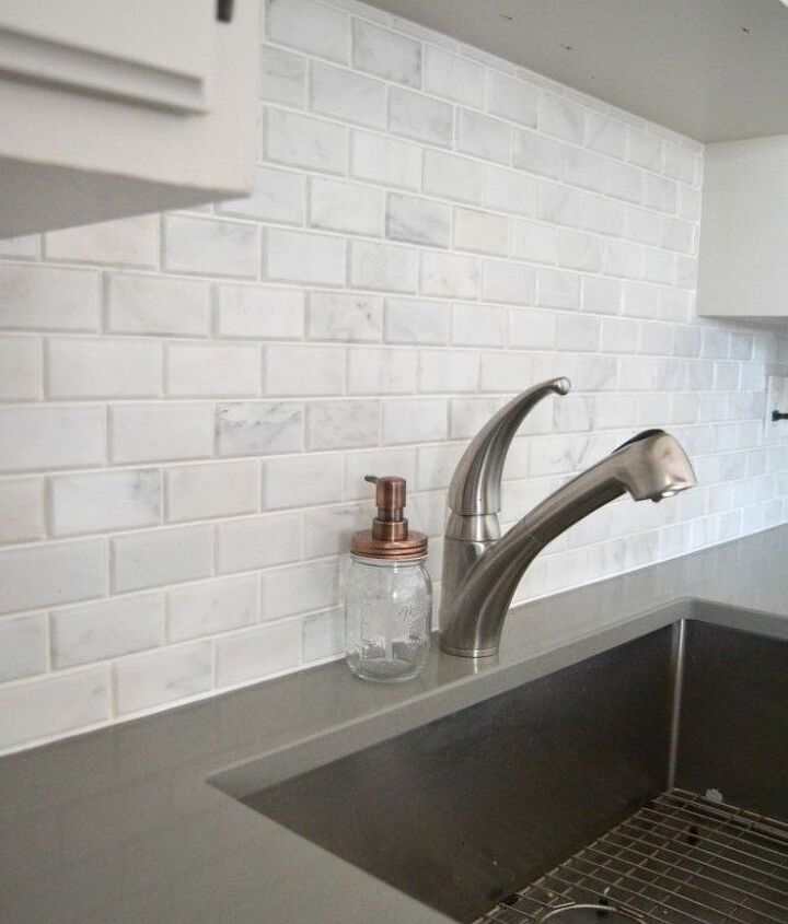 s 15 reasons to drop everything and buy inexpensive tile, tiling, Cut them up for a super luxe backsplash