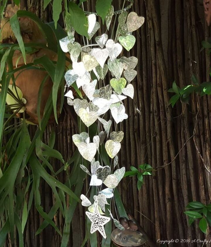 welcome spring with a chain of hearts garden mobile, crafts