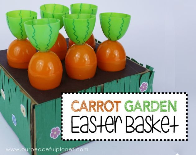 carrot garden easter basket, crafts, easter decorations, how to, seasonal holiday decor
