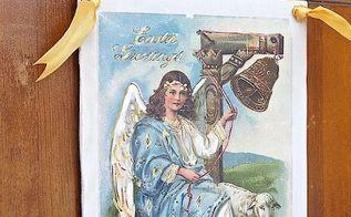vintage easter postcard sign using fusion transfer gel diymyspring, crafts, easter decorations, seasonal holiday decor