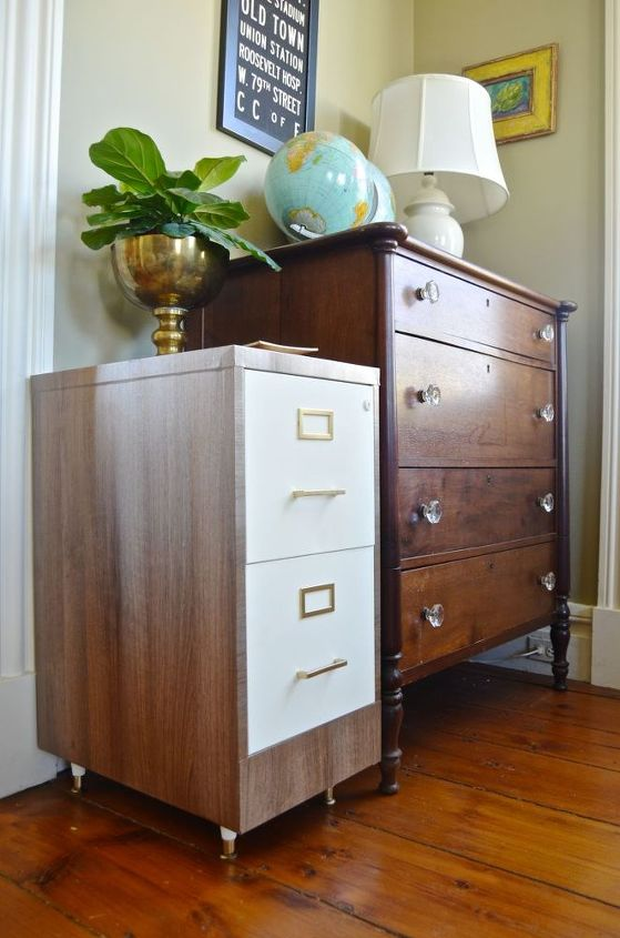 file cabinet flip, chalk paint, home office, organizing, painted furniture, repurposing upcycling, storage ideas
