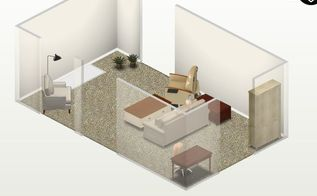 budget renovation dividing a room in half to make two spaces, architecture