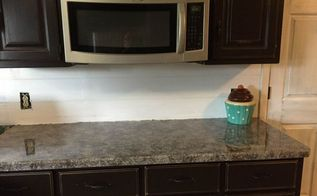 diy faux granite kitchen countertops, countertops, diy, how to, kitchen design, painting