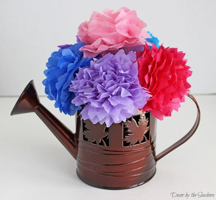 Colorful easy tissue paper flowers hometalk tissue paper flowers crafts seasonal holiday decor mightylinksfo