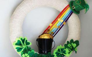 st patrick s day burlap wreath, crafts, seasonal holiday decor, wreaths
