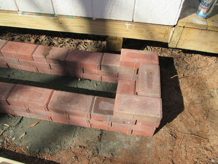 how to make a paving stone planter box, concrete masonry, container gardening, flowers, gardening, raised garden beds