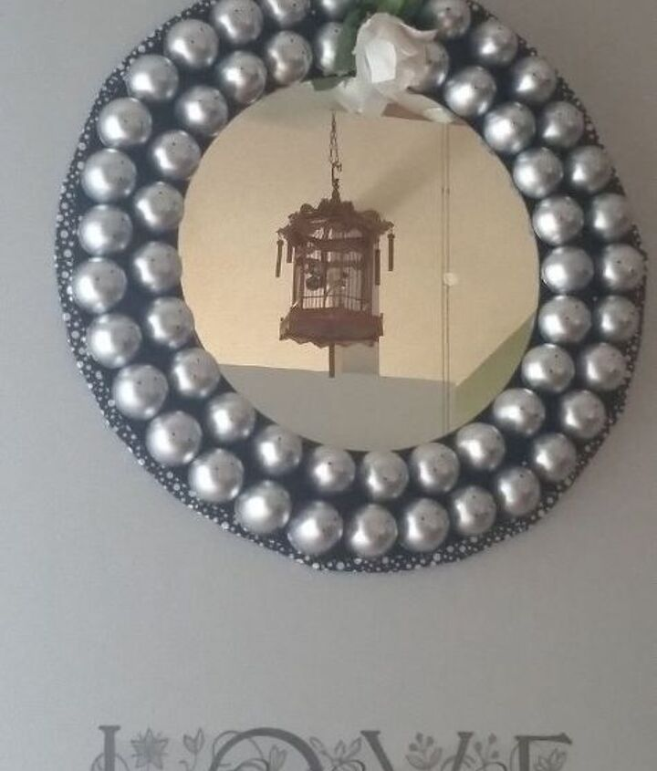 easter egg mirror, craft rooms, crafts, easter decorations, seasonal holiday decor, wall decor