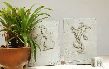 diy experiment embossing concrete challenge, concrete masonry, crafts, diy, how to