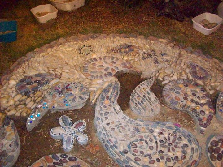 hard landscaping with rocks or pebbles, concrete masonry, crafts, diy, gardening, landscape