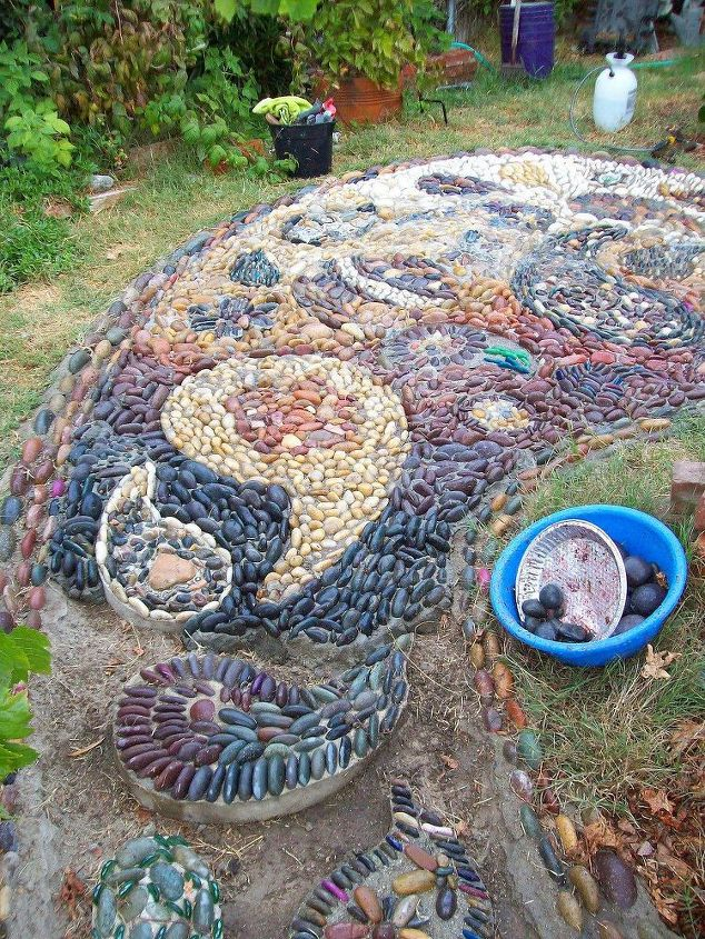 Hard Landscaping With Rocks Or Pebbles Concrete Masonry Crafts Diy Gardening