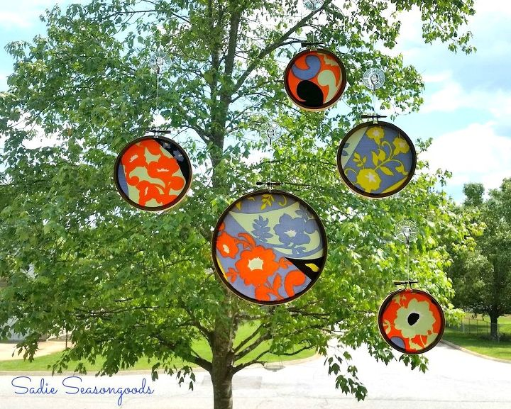 s 11 gorgeous suncatchers to brighten your windows, crafts, repurposing upcycling, window treatments, Hang scraps of vintage scarves