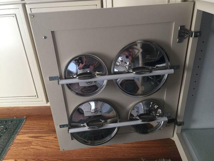 pot lids organized cheap and essy, kitchen design, organizing, storage ideas