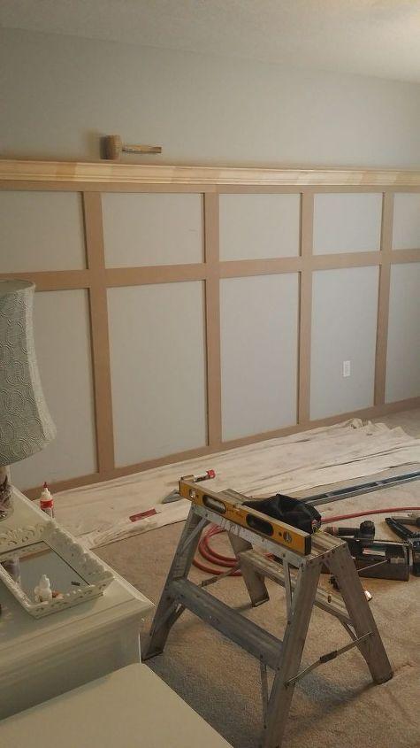 bedroom board and batten wall, bedroom ideas, diy, wall decor