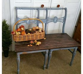 Good Upcycled Chair Benches, Diy, Painted Furniture, Repurposing Upcycling,  Woodworking Projects
