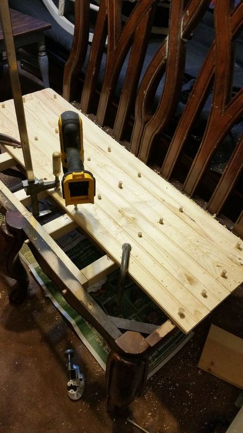 upcycled chair benches, diy, painted furniture, repurposing upcycling, woodworking projects