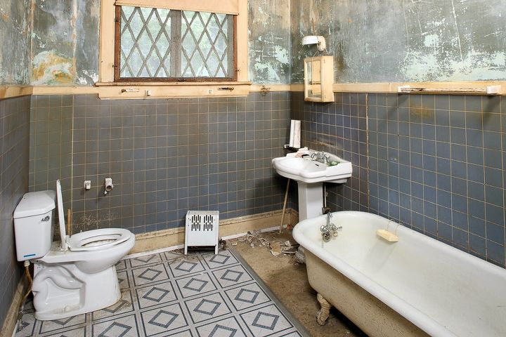 Before after renovating a 100 year old southern charm for Fixer upper bathroom designs