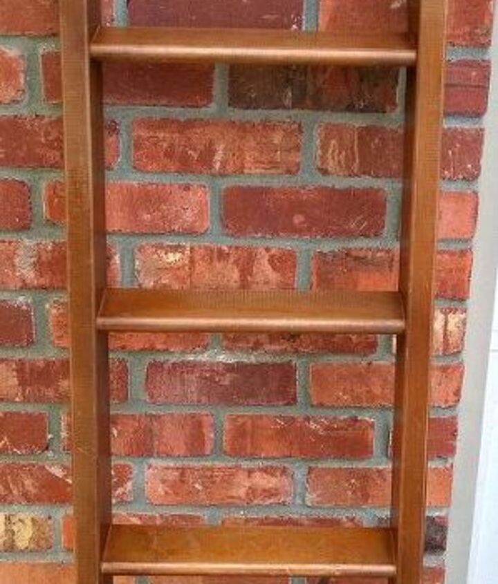 giving an old bunk bed ladder new life showyourgreen, repurposing upcycling, shelving ideas, storage ideas