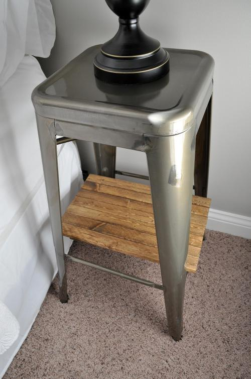 Industrial Stool Nightstands Bedroom Ideas Diy Painted Furniture Woodworking Projects