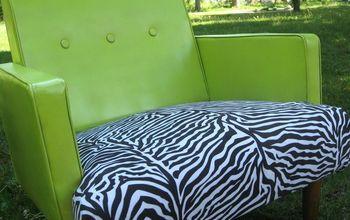 spray painted vinyl chair, diy, painted furniture, reupholster
