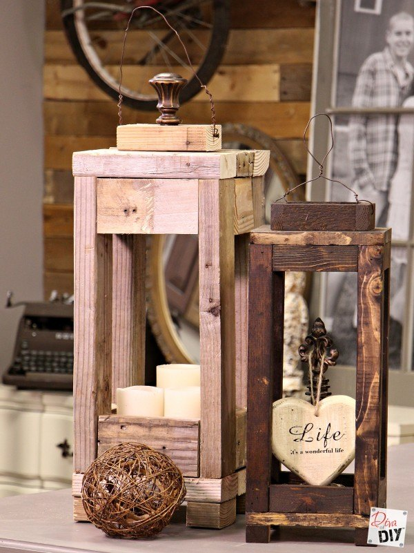 easy outdoor decor make wood lanterns with scrap wood diy how to outdoor - Easy Garden Furniture To Make