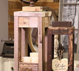 Easy Outdoor Decor Make Wood Lanterns With Scrap Wood, Diy, How To, Outdoor