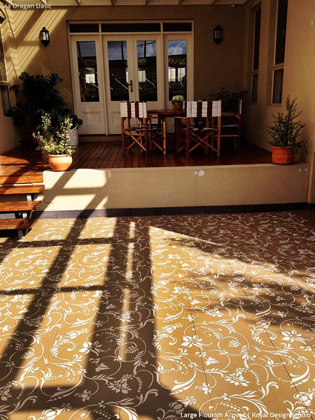 7 Stylish Stenciled Concrete Floors Within Your Budget Hometalk