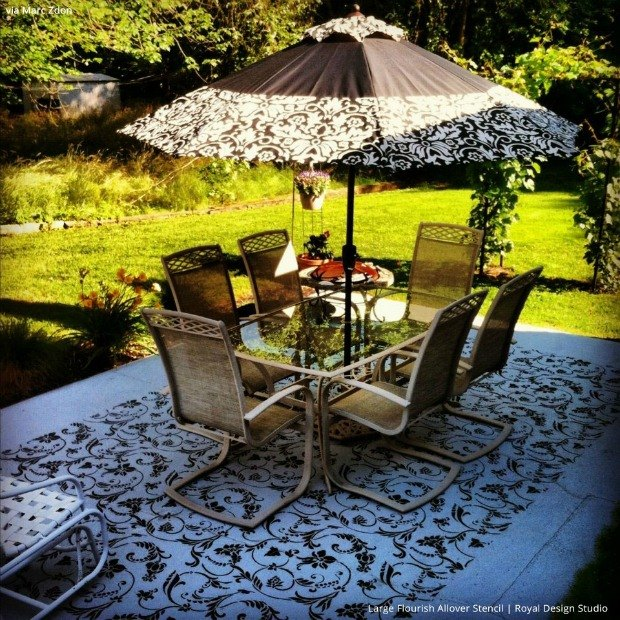 7 stylish stenciled concrete floors within your budget, concrete masonry, flooring, painting