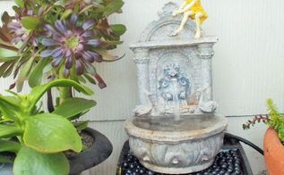 porch fountain made from stuff i already have, how to, outdoor living, ponds water features, repurposing upcycling