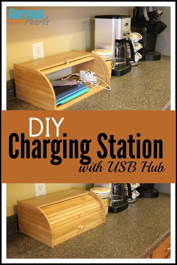 diy charging station, countertops, organizing, repurposing upcycling
