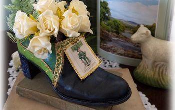 Lucky Leprechaun Shoe: St Patrick's Recycled DIY