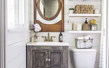 Small Master Bathroom Budget Makeover