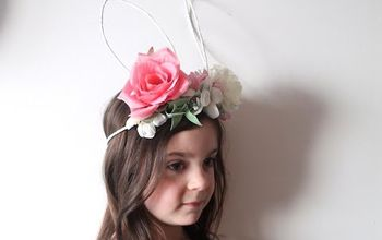 diy bunny ears floral crown, crafts, easter decorations, flowers, seasonal holiday decor