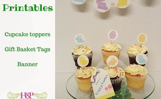 easter printables for dessert table and gift baskets, crafts, easter decorations, seasonal holiday decor