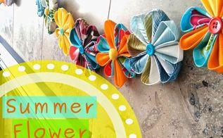 fabric flower garland, crafts, seasonal holiday decor
