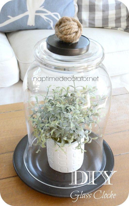 diy glass cloche, container gardening, crafts, gardening, repurposing upcycling