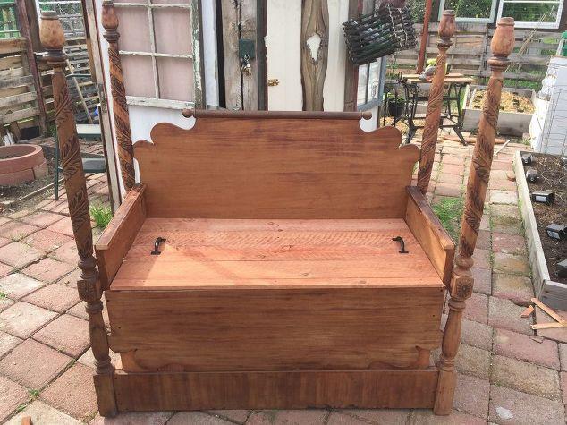 Beautiful Antique Bed Turned Garden Bench   Hometalk