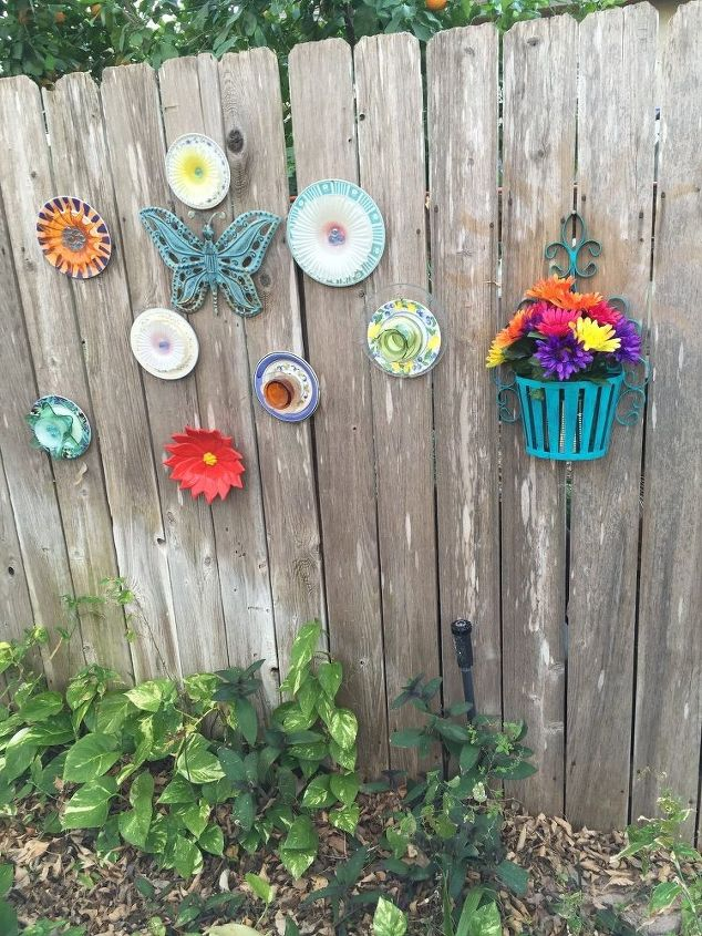 glass or plastic plate flowers, crafts, gardening, outdoor living, repurposing upcycling
