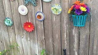 , Here s an example of what I ve done to decorate my old cedar fence