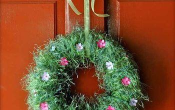 springtime wreath, crafts, how to, seasonal holiday decor, wreaths