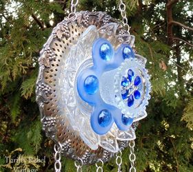 How To Make A Garden Plate Flower Wind Chime, Crafts, Gardening, How To